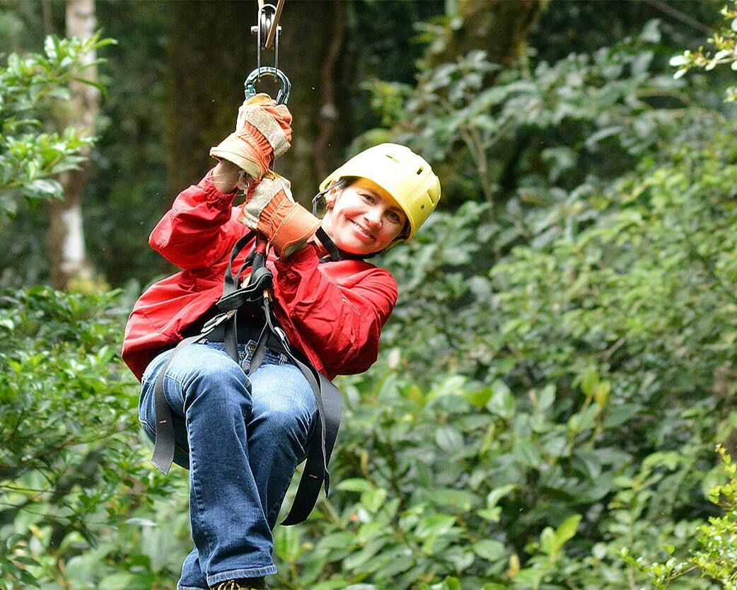 zipline canopy tour for families in Costa Rica