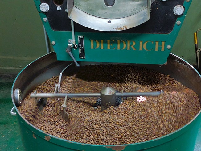 Diedrich Roaster with coffee beans