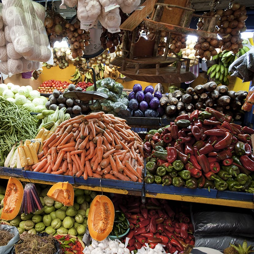 Vegetables at a local market