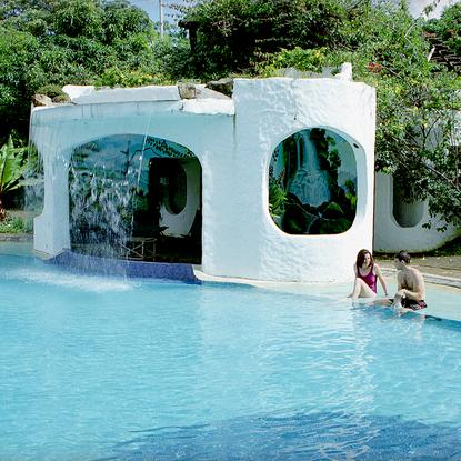Thumb Couple Waterfall Pool